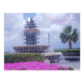 Charleston, SC Postcard and Flowers