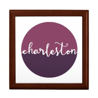 Charleston, SC   Purple Ombre Circle Large Square Gift Box