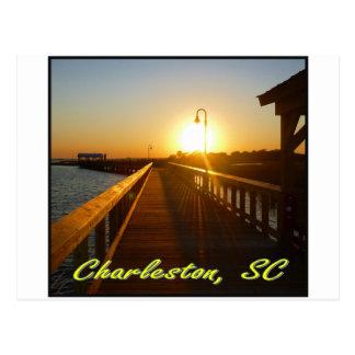 Charleston SC Sunset Post Card