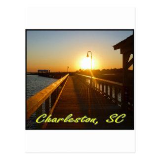 Charleston SC Sunset Postcard