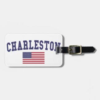 Charleston SC US Flag Luggage Tag