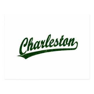 Charleston script logo in Charleston Green Post Cards