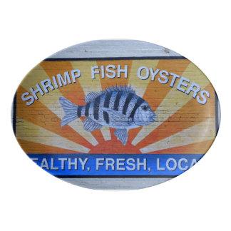 Charleston Seafood Porcelain Serving Platter