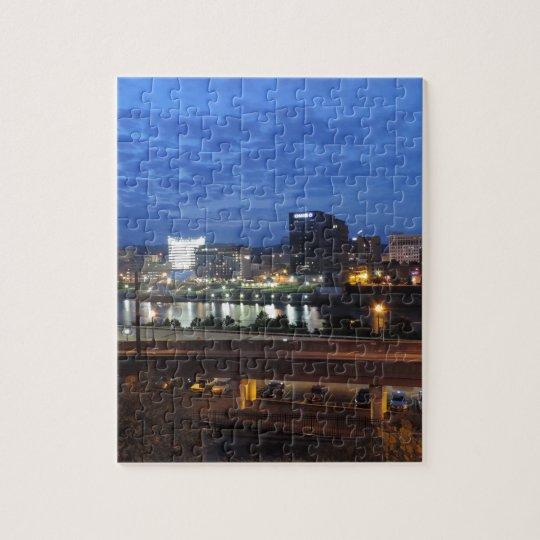 Charleston Skyline at Dusk Jigsaw Puzzle