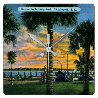 Charleston, South Carolina, Battery Park, Vintage Clock