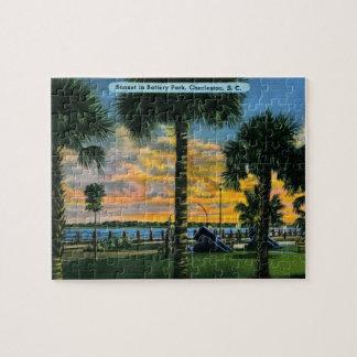 Charleston, South Carolina, Battery Park, Vintage Jigsaw Puzzle