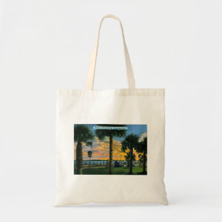 Charleston, South Carolina, Battery Park, Vintage Tote Bag