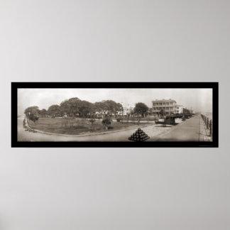Charleston South Carolina Battery Photo 1909 Poster