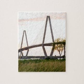 Charleston South Carolina Bridge - Cooper River Jigsaw Puzzle
