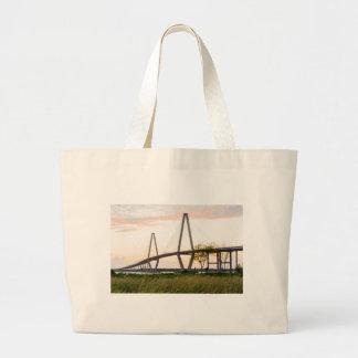 Charleston South Carolina Bridge - Cooper River Large Tote Bag