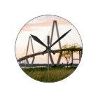 Charleston South Carolina Bridge - Cooper River Round Clock