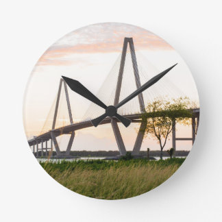 Charleston South Carolina Bridge - Cooper River Round Clock