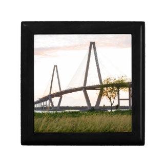 Charleston South Carolina Bridge - Cooper River Small Square Gift Box