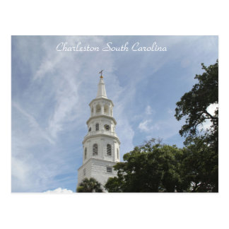 Charleston South Carolina, Photography of Church Postcard