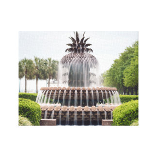 Charleston, South Carolina Pineapple Fountain Canvas Print