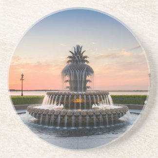 Charleston South Carolina Pineapple Fountain Coaster