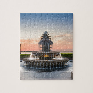 Charleston South Carolina Pineapple Fountain Jigsaw Puzzle