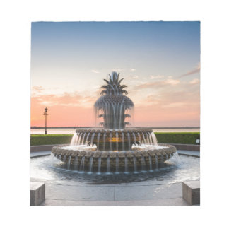 Charleston South Carolina Pineapple Fountain Notepad
