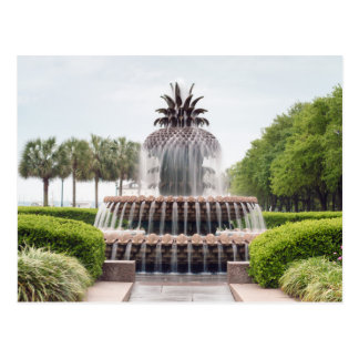 Charleston, South Carolina Pineapple Fountain Postcard