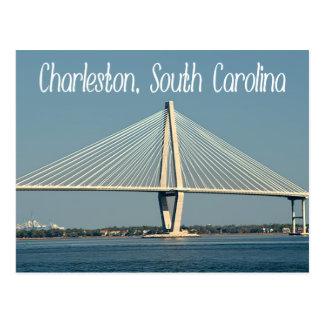 Charleston South Carolina Ravenel Bridge Post Card