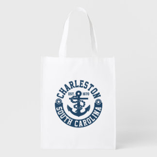 Charleston South Carolina Reusable Grocery Bag