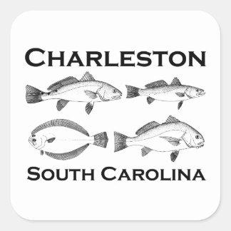 Charleston South Carolina Saltwater Fishing Square Sticker
