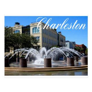 Charleston South Carolina (SC) Fountain Post Card