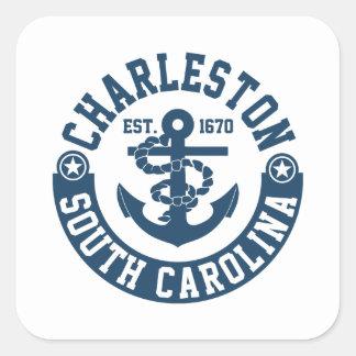 Charleston South Carolina Square Sticker