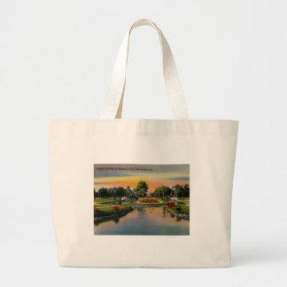 Charleston, South Carolina, Vintage Large Tote Bag