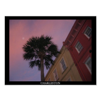 Charleston Sunset Poster