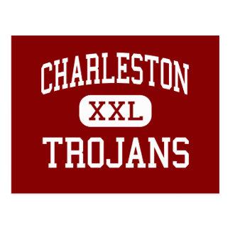 Charleston - Trojans - High - Charleston Illinois Postcard