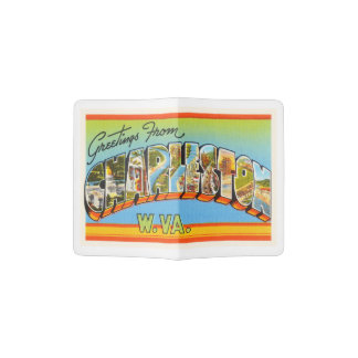 Charleston West Virginia WV Old Vintage Postcard- Passport Holder