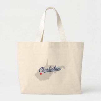 Charleston West Virginia WV Shirt Large Tote Bag