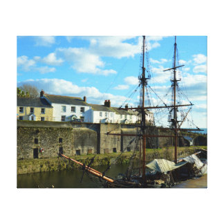 Charlestown Harbour Cornwall UK Poldark Location Canvas Print