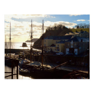 Charlestown Harbour Cornwall UK Poldark Location Postcard