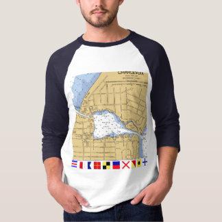 Charlevoix, MI Round Lake Nautical... - Customized T-Shirt