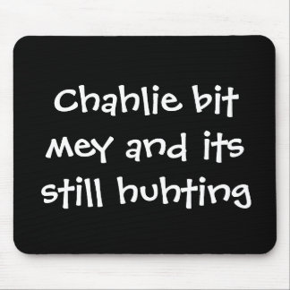 Charlie bit me Youtube mousepad