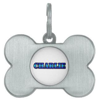 CHARLIE Bone Pet Tag