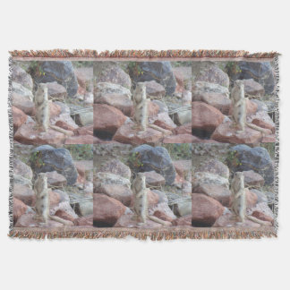 Charlie Ground Squirrel Throw Blanket