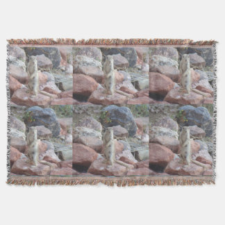 Charlie on Sedona Rock Accent Throw Blanket