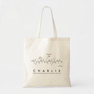 Charlie peptide name bag