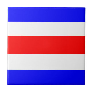 Charlie Red White Blue Tile