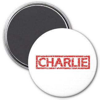 Charlie Stamp 7.5 Cm Round Magnet