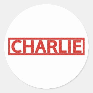 Charlie Stamp Classic Round Sticker