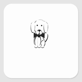Charlie the dachshund square sticker