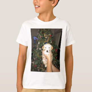 Charlie The GoldenDoodle Puppy on Christmas T-Shirt
