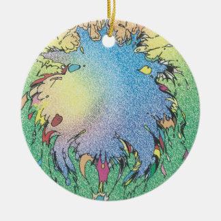 Charlie's Colorful Universe Ceramic Ornament