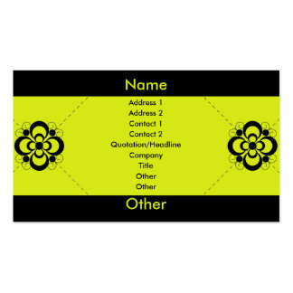 Charlize - Jalapeno Pack Of Standard Business Cards