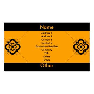 Charlize - Orange Business Card