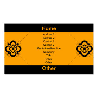 Charlize - Orange Pack Of Standard Business Cards